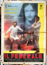 manifesto 2F film IL FEDERALE Ugo Tognazzi Stefania Sandrelli Luciano Salce 1961