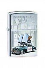 EDEL  ZIPPO  Car + Building  CHROM BUNT  NEU   +++