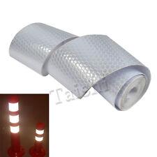 1 Roll 3m Selbstklebend Aufkleber Auto Reflexstreifen Reflexfolie Siber Weiß