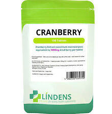 Cranberry Juice 100 Tabs 5000mg Healthy Bladder Urinary Tract Sugar Free Lindens