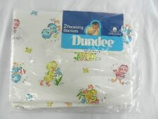 Vintage Dundee Baby Chicks Birds Receiving Blankets New In Package Made USA