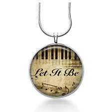 Music Jewelry - Let it Be Pendant Necklace, Music, Piano Pendant, Christmas gift