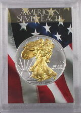 2015 Gilded American Silver Eagle .999 Bullion 1oz Ounce  Free Shipping 24k Gold
