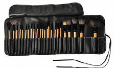 24pcs Makeup Brushes set brown  wooden handle Professional Comestic tools