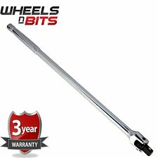 "18"" 450mm X 1/2"" Socket Wrench Square Flexi Drive Bar Full Polished Mechanic New"