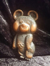 MOSCOW 1980 OLYMPIC GAMES MISHA BEAR MASCOT METAL RELIEF PLAQUE USSR MEDIUM SIZE