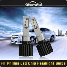 8000LM 80W PHILIPS LED Headlight Kit H1 6000K Xenon White Color Bulbs ONE Pair