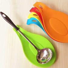 Silicone Heat Resistant Spoon Fork Mat Rest Utensil Spatula Holder Showy