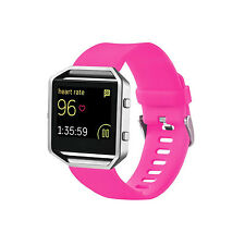 Replacement Silicone Wrist Band Strap Bracelet For Fitbit Blaze Smart Watch-Rose
