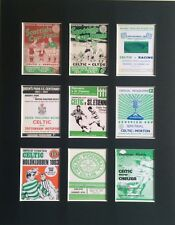 """CELTIC RETRO PROGRAMME 14"""" BY 11"""" LP PICTURE MOUNTED READY TO FRAME"""