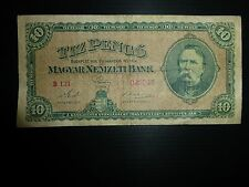 Hungary Lot P-90a 1926 10 Pengo VF 20 Add Collection