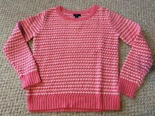 New w/Tags*GAP Brand Women's Cable Knit Sweater in White/Pink*Size M/Medium