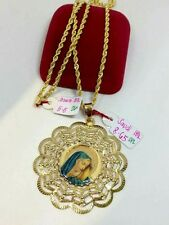 GoldNMore: 24 Inches Standard 18K Necklace & Pendant 14.15G