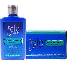 Belo Men ACNE CONTROL KIT, Skin Whitening Kojic Acid Soap Bar + Facial Cleanser