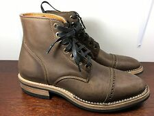 New 9 TEXTURE Brown Calf Leather Unstructured Service Boot Stitchdown Toe alden