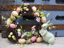 "NWT 14"" Twig Bird Nests EASTER EGGS Berries Flowers Spring WREATH Decoration"