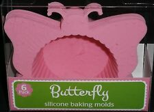 Easter Silicone Baking  Molds BUTTERFLY 6 Pack  Pink Mold