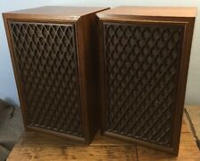 Coral BX-1001 Stereo 3 Way Speakers Wood Cabinets Floor Or Bookshelf Nice Sound