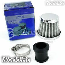 15 mm WHITE CONE MINI OIL AIR INTAKE CRANKCASE VENT VALVE COVER BREATHER FILTER