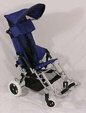 New Large Child Small Adult Special Needs Folding Stroller Wheelchair Blue 16-18