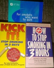 How To Stop Smoking Cigarettes Kick It Quit Nicotine Tobacco Addiction Workbook