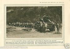 Italian Front Tank /Decoration Prince Arthur of Connaught WWI 14 18 PLANCHE 1916