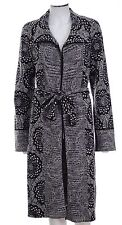 M MISSONI Black Floral Belted Long Sweater Jacket Coat Sz 38 US XS
