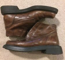 Kenneth Cole New York Ankle Lace Up Boot Brown Leather Sz EUR-38 Made In Italy