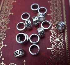 Set of 25 Tibetan Silver Dreadlock Dread Beads 5.8mm Hole