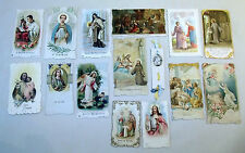 15 Pce Collection Vintage HolyCards Scalloped Fancy Edges SS Francis Lucy Joseph