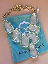 Kendra Scott 'Harlow' Statement Necklace in Suspended Ivory Pearl, $225
