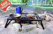 Camping BBQ Grill Outdoor Portable Barbecue Picnic Campfire Cooking Grate Camp