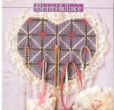 Hearts & Lace Accessory Keeper Plastic Canvas Pattern