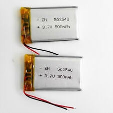 2 pcs 3.7V 500mAh 502540 Lipo Polymer ion Battery For mp3 MID DVD GPS bluetooth