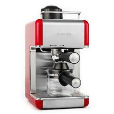 MACHINE A CAFE EXPRESSO ROUGE KLARSTEIN CAFETIERE 4 TASSES BUSE VAPEUR 3,5 BAR