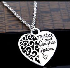 Mother and Daughter Forever Love Pendant Necklace Heart Jewellery Mum