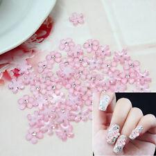 50 X Pegatina Rosa Flor Cristal Plástico Decoración para Uñas Arte Manicura