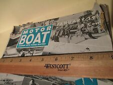 MOTOR BOAT MAGAZINE JAN.1953 , VINTAGE BOATING