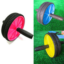 Dual ABS Abdominal Roller Wheel Workout Exerciser Fitness Gym Roller Exercise