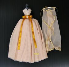 Wedding Gown Outfit Clothes Costumes Brown Dress up Handmade for Barbie, Dolls