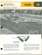 Offset ROMA DISCO plowing Harrows per Caterpillar TRATTORI BROCHURE-IB3