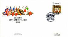 5 JUNE 1984 ECONOMIC SUMMIT POST OFFICE FIRST DAY COVER LONDON SW SHS (4)