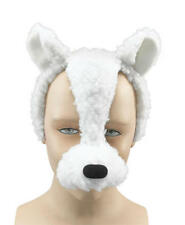 Lamb Face Mask & Sound Animal Easter Fancy Dress Costume Outfit New