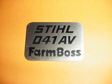 STIHL 041 041AV FARMBOSS NAME TAG  NEW  -------------- BOX1114