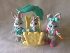 Fisher Price Hideaway Hollow Loving Family Dollhouse Rabbit Bunnies Cradle