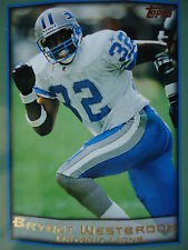 NFL 114 Bryant Westbrook Detroit Lions Topps 1999