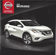 2016 NISSAN Murano  S / SV / SL and Platinum  Models 14 Page Brochure