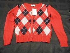 ZARA cardigan new  patterned red sweater large