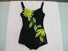 DE WEESE Design LA CA.BEAUTIFUL ART DECO WOMEN'S SWIM SUIT SIZE 12/34 VINTAGE.