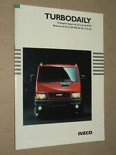 Catalogue Camion IVECO Turbo Daily 1992  prospectus brochure prospekt LKW truck